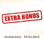 illustration of extra bonus... | Shutterstock .eps vector #547613815