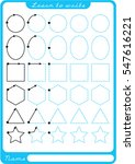 shapes. preschool worksheet for ... | Shutterstock .eps vector #547616221