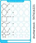 shapes. preschool worksheet for ... | Shutterstock .eps vector #547616221