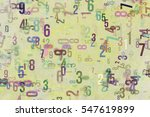 colorful   blur number from 0... | Shutterstock . vector #547619899