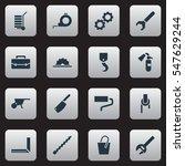 set of 16 editable apparatus...