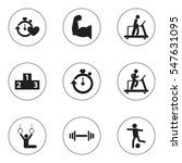 set of 9 editable healthy icons....