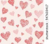 vector pattern with hand drawn... | Shutterstock .eps vector #547633417