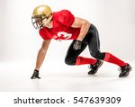 side view of american football... | Shutterstock . vector #547639309