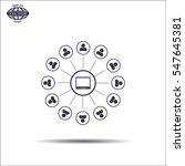 global communication concept...   Shutterstock .eps vector #547645381