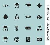 set of 16 editable casino icons....