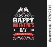 valentines day border vintage... | Shutterstock .eps vector #547647964