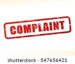 illustration of complaint text... | Shutterstock .eps vector #547656421