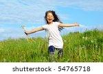 Little Girl Running On The...