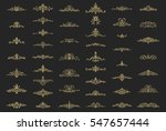 vintage decor elements and... | Shutterstock .eps vector #547657444