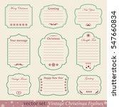 vector set of vintage christmas ... | Shutterstock .eps vector #547660834