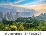 magical scene at zhangjiajie...   Shutterstock . vector #547663627