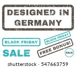 designed in germany rubber seal ... | Shutterstock .eps vector #547663759
