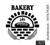 bakery products label. vector... | Shutterstock .eps vector #547674385