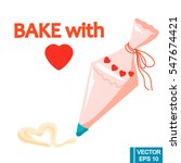 vector decorate cakes with... | Shutterstock .eps vector #547674421