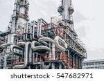 industrial zone the equipment... | Shutterstock . vector #547682971