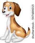 cartoon happy dog sitting | Shutterstock .eps vector #547684015