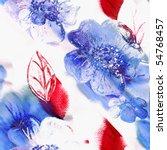 seamless flowers watercolor art | Shutterstock . vector #54768457