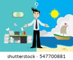 cartoon character  the choice... | Shutterstock .eps vector #547700881