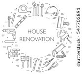 house remodel horizontal banner.... | Shutterstock .eps vector #547702891