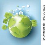 eco paper art design style  ... | Shutterstock .eps vector #547704631