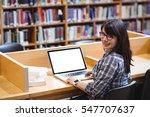 portrait of smiling female... | Shutterstock . vector #547707637