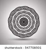 vector mandala for coloring... | Shutterstock .eps vector #547708501