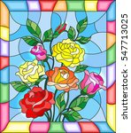 illustration in stained glass... | Shutterstock .eps vector #547713025