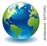 world globe   editable vector... | Shutterstock .eps vector #54771451