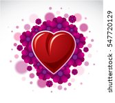beautiful red heart surrounded... | Shutterstock . vector #547720129