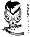razor skull | Shutterstock .eps vector #547728151