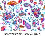 hand drawn flower seamless... | Shutterstock . vector #547734025