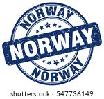norway. stamp. blue round... | Shutterstock .eps vector #547736149