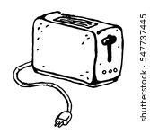vector toaster  kitchen...   Shutterstock .eps vector #547737445