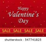 valentine's day sale  ... | Shutterstock .eps vector #547741825