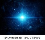 universe filled with stars.... | Shutterstock . vector #547745491