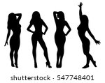 vector silhouettes of women... | Shutterstock .eps vector #547748401