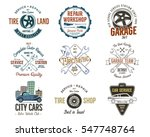 vintage car service badges ... | Shutterstock . vector #547748764