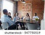 group of businesspeople meeting ... | Shutterstock . vector #547750519