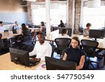 view of staff in busy customer... | Shutterstock . vector #547750549