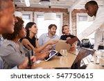 businesspeople meeting around... | Shutterstock . vector #547750615