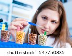 girl in the laboratory of food... | Shutterstock . vector #547750885