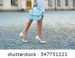 fashionable young woman in ... | Shutterstock . vector #547751221