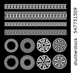 celtic borders  patterns and... | Shutterstock .eps vector #547751509
