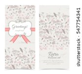 vintage congratulatory vertical ... | Shutterstock .eps vector #547754341