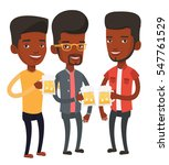 african american young friends... | Shutterstock .eps vector #547761529