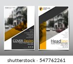 yellow flyer cover business... | Shutterstock .eps vector #547762261