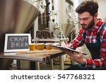 manufacturer writing while... | Shutterstock . vector #547768321