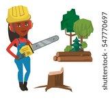 african american lumberjack... | Shutterstock .eps vector #547770697
