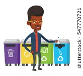 man throwing away plastic... | Shutterstock .eps vector #547770721